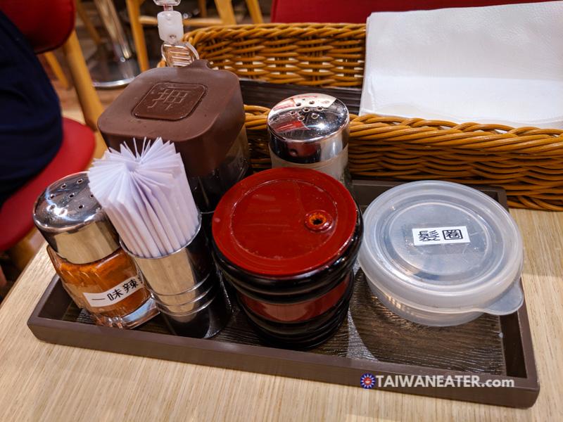 ramen restaurant table