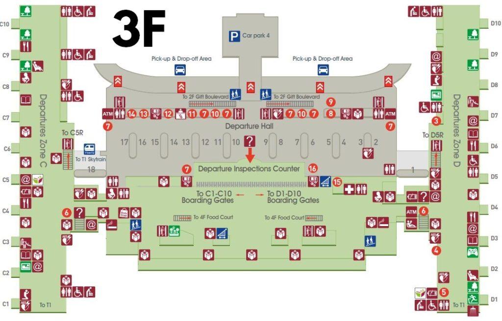 tpe airport terminal map Taipei Airport Layover Guide What To Do In Tpe Airport tpe airport terminal map